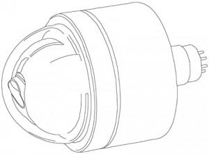 Precision Subsea Dome Camera outline
